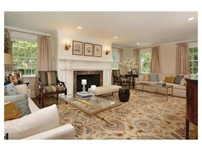 Warm Neutrals Make For A Cozy Chic Living Room With The Caesar Rug Sold At  Boston