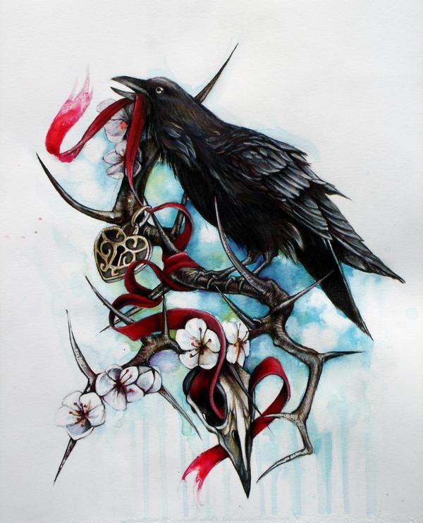 Best 25 raven tattoo ideas on pinterest crow tattoos for Ravens face tattoos