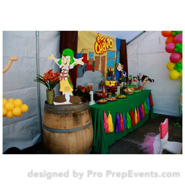 El Chavo Del Ocho birthday theme fiesta