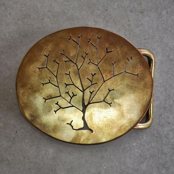 """Handmade belt buckle """"AUTUMN-2"""" in brass by TakisBrass on Etsy"""