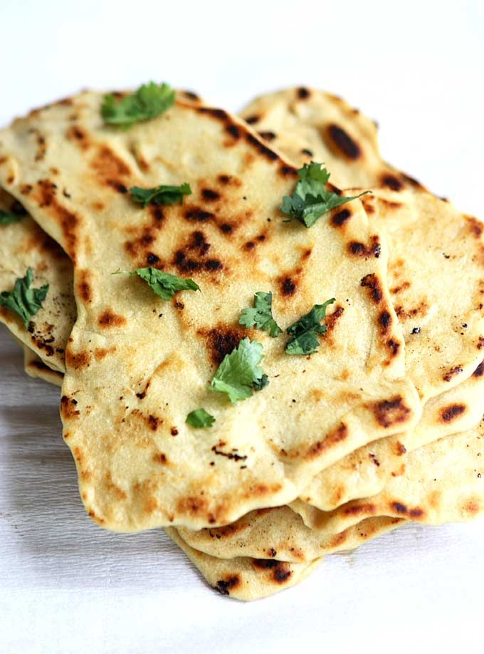 Quick Naan without Yeast | No Yeast Skillet Bread | Indian Food