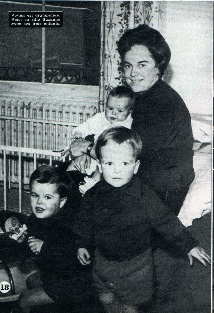 Vivien Leighs daughter Suzanne Farrington and her children