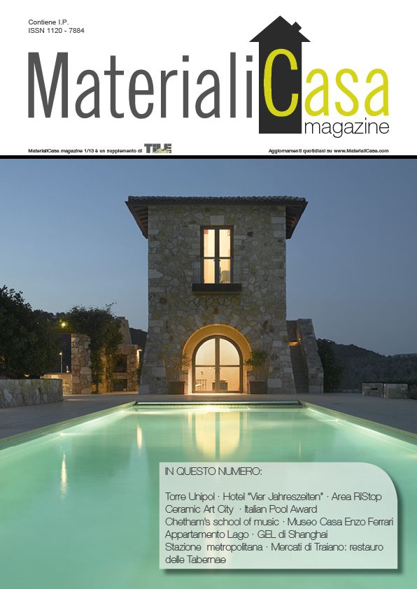 MaterialiCasa magazine 1/2013. Cover by Secco Sistemi
