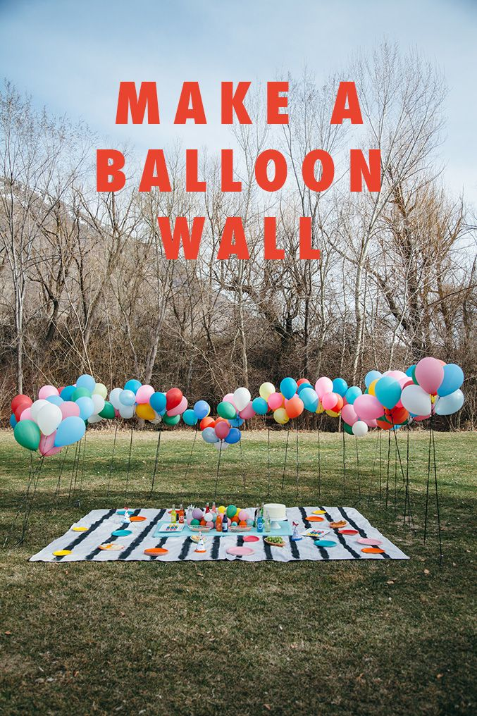 Having an outdoor party or need something to break up your event space? Check out our tutorial on how to make a balloon wall! Its a super cheap and easy way to make a interesting separator for any party!