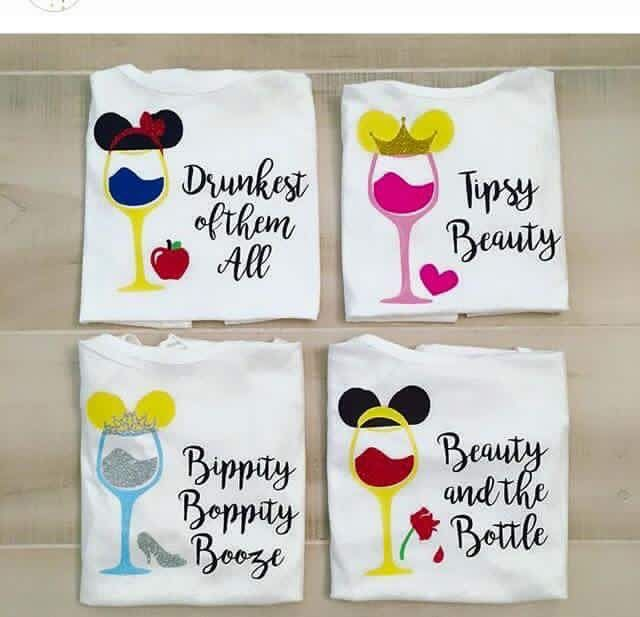 "Disney ""Drinking Around the World"" shirts! Princess style!"