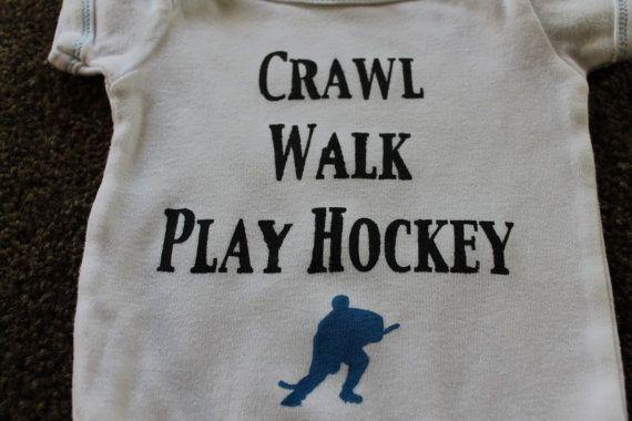 Crawl Walk Play Hockey Onsie by mycraftysoul on Etsy