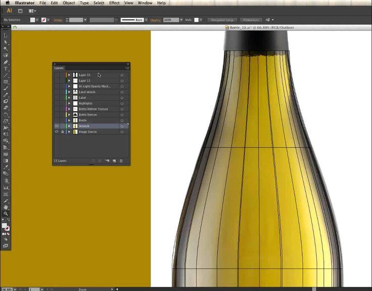 Gradient Mesh // Bottle