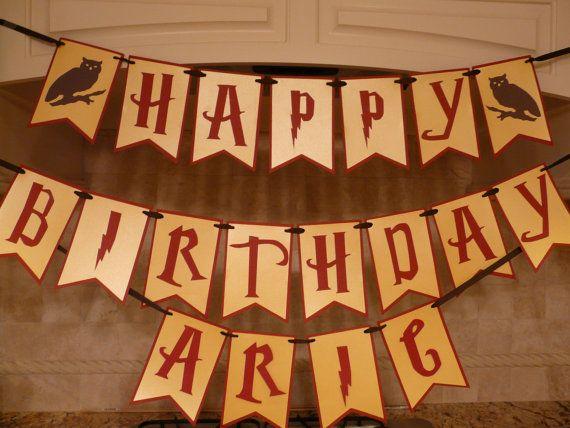 wizard happy birthday banner
