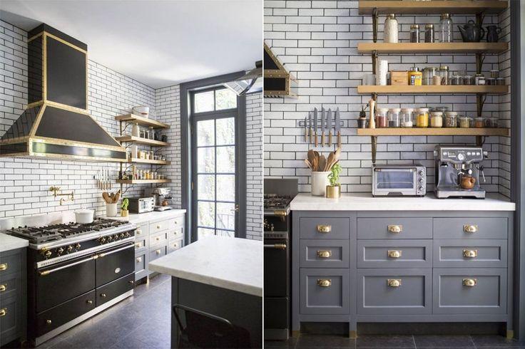 10 cocinas para morir de amor  Los detalles en bronce, los azulejos estilo NY Subwey y la madera rústica dan un espacio con mucha personalidad. Foto:Thekitchn.com