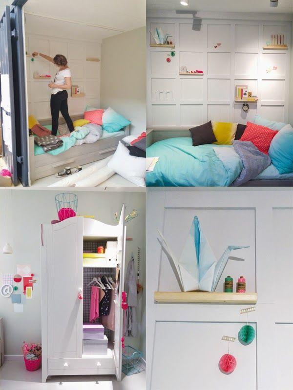 54 beste afbeeldingen over huis kinderkamer op pinterest plankenbureau ladder en - Bed bebe scandinavische ...