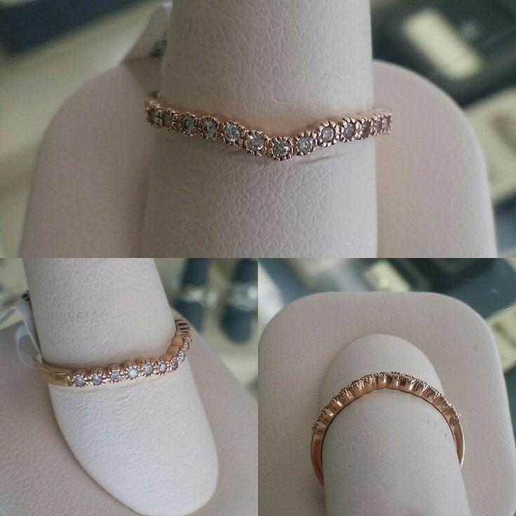 Northwood Jewelers Rose Gold Thin Diamond Wedding Band