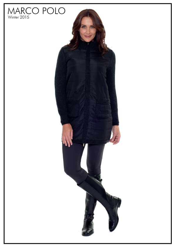 The chic lines of the Black Quilted Coat gives the piece a sense of effortless sophistication. A long sleeve silhouette, the collared style features 2 front knitted pockets and zipper closure instantly adding class to your weekend outfitting. http://www.marcopolo.net.au/jackets/l-s-quilted-coat-black-mw53016.html