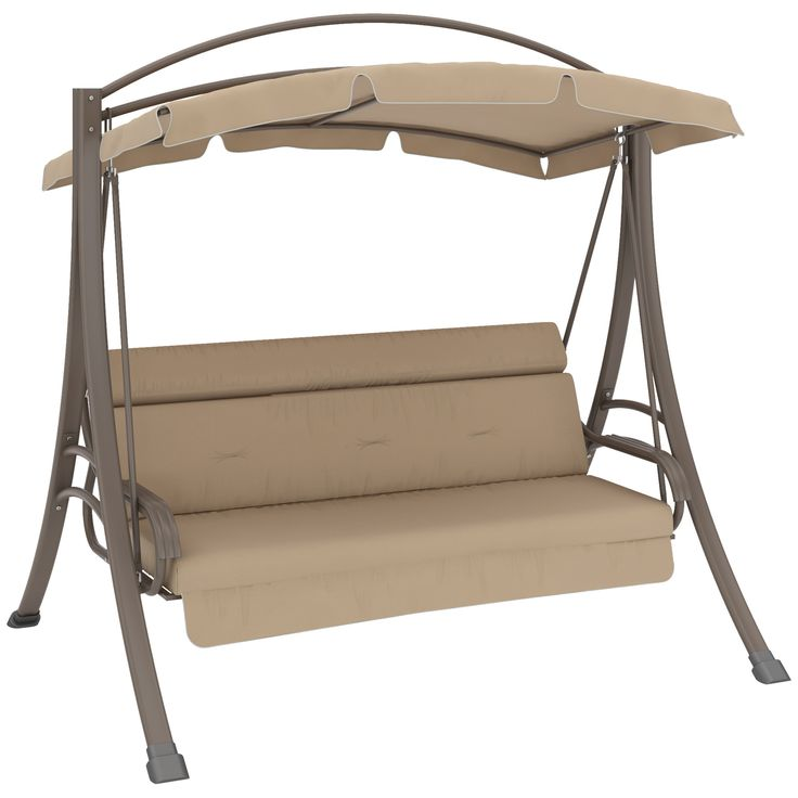Take Your After Dinner Party To The Swing! The CorLiving Nantucket Patio  Swing With Arched Canopy Is Best Enjoyed With A Glass Of Wine And A Sunset.