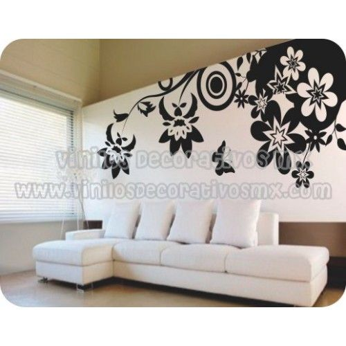 Vinilos decorativos natura 20 flores y mariposas for Vinilos mariposas
