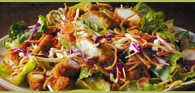 applebees oriental chicken salad - I used to love when they made them into a wrap sandwich