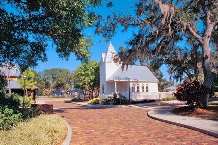 Explore the chapel and original post office (along with many more buildings) at the Palmetto Historical Park in Palmetto, Florida