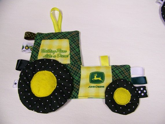 Toy John Deere Tractor Patchwork blanket Crinkle by civilwarlady, $19.95 will so be ordering this soon for baby #2