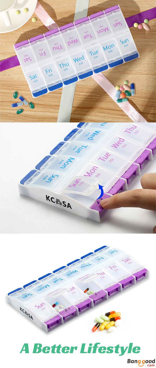 US$6.99 + Free shipping. Weekly Travel Pill Box, Pill Box, Medicine Box, Organizer, Portable Box, Tablets Holder. Material: Food Grade Quality PP Plastic. You gonna love it.