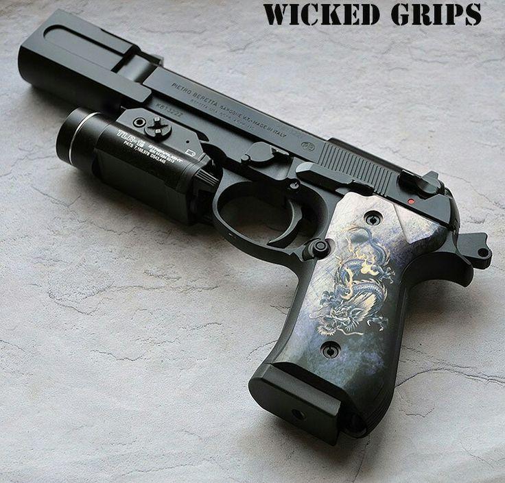 Beretta Dragon Grips With Compensator Firearms Beretta