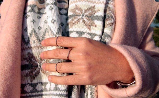 Mi vestido de lentejuelas: Winter in pink Anillos midi