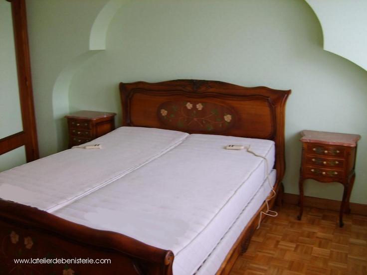Chambre ornée de roses en marqueterie Marquetry bedroomes