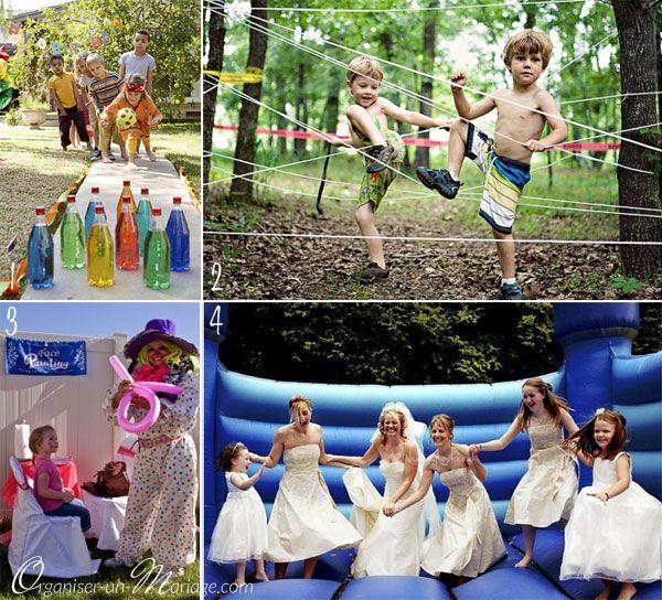 Activités plein air ballons chamboule tout clown chateau gonflable enfants
