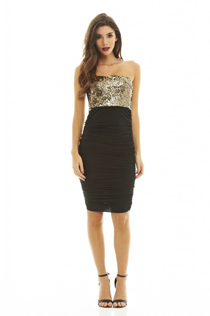 RUCHED SEQUIN BODYCON DRESS http://bit.ly/1Xbteqq