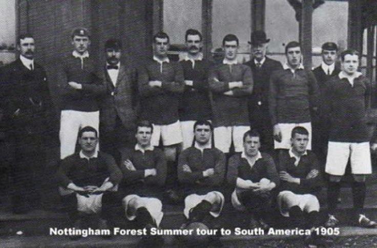 NOTTINGHAM FOREST FOOTBALL CLUB, EN LA GIRA REALIZADA POR SUDAMERICA EN EL VERANO DE 1905