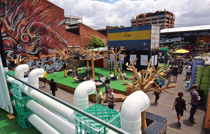 The People's Market, a pop-up market in Melbourne, Collingwood, designed by Emerge Studio