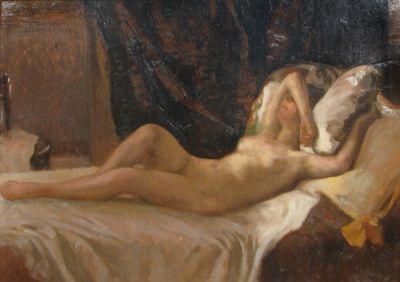 Ipolit Strâmbu  - Nud culcat