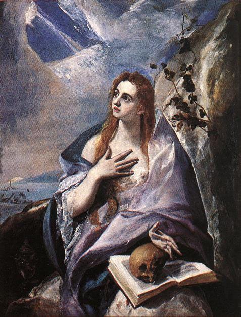 Mary Magdalene in Penitence - El Greco 157 x 121 cm (Domenikos Theotokopoulos, of Greek origin)