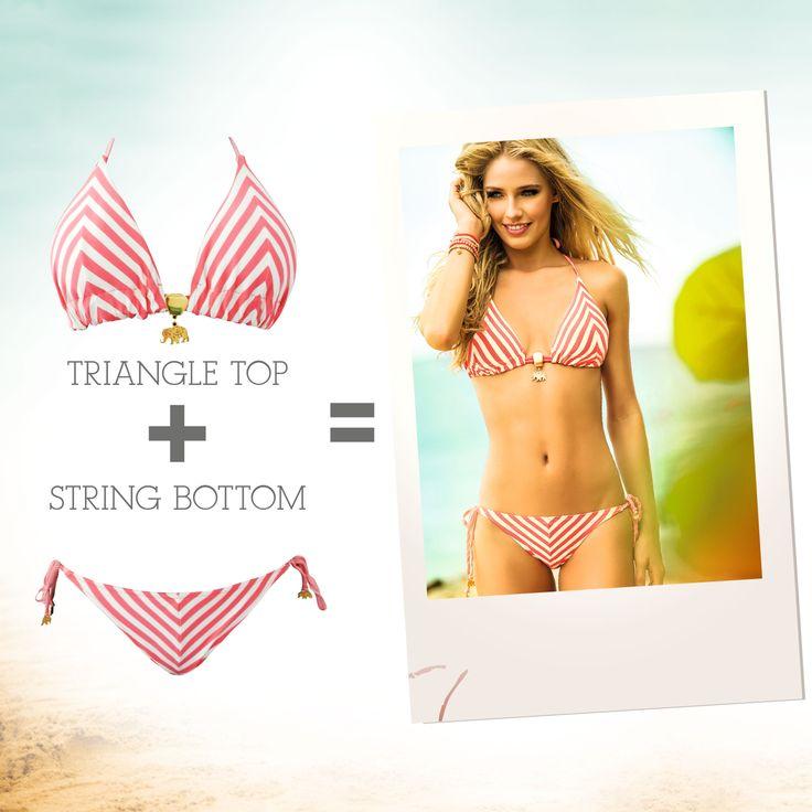 a stripes bikini for an unforgetable beach day!<3