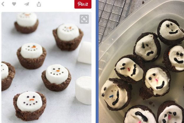 These emotional brownie bites: | 19 Holiday Pinterest Baking Fails Guaranteed To Make You Laugh