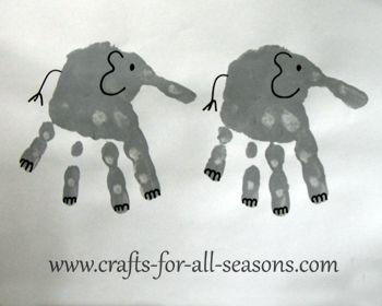 handprint elephant | handprint