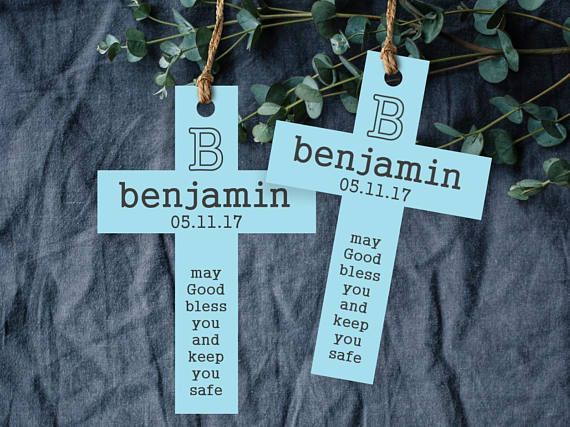 Personalized Baptism Tag. Cross Tag. Baptism Tag. Communion