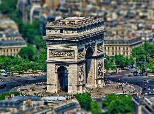Arc de Triomphe, Paris, France #britairtrans #tiltshift