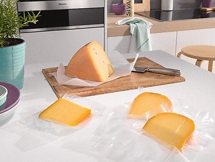 Top tip: soft cheese remains fresh for considerably longer when it has been vacuum-sealed and stored in the refrigerator