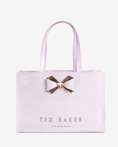 Bow trim shopper bag - Pale Pink | Bags | Ted Baker
