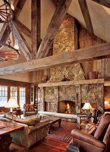 Antique rough sawn beams  Fireplaces  Home Decor Home