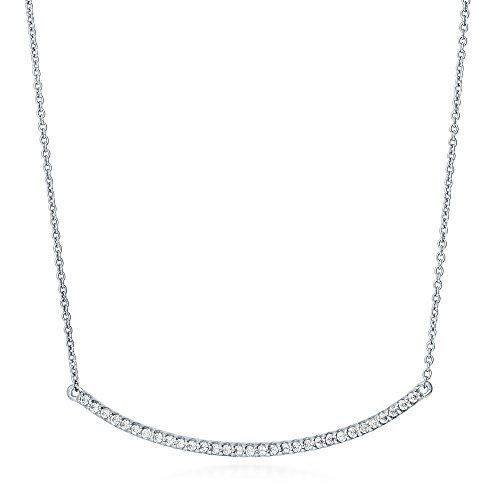 BERRICLE Sterling Silver Cubic Zirconia CZ Bar Fashion Pendant Necklace 162 Extender -- Read more  at the image link.