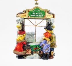 Witryna - Santa's Workshop - Polskie bombki ręcznie malowane - sklep z ozdobami choinkowymi Komozja Family