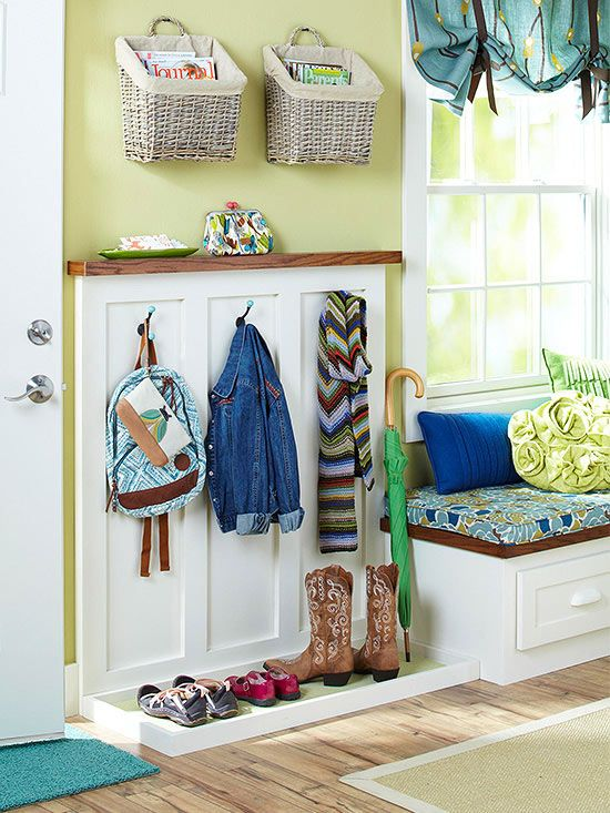 Small Mudroom Ideas Think your space-challenged entryway doesn't have enough room for a mudroom? Think again: Our clever solutions and space-planning ideas help you carve out the just-right spot for a practical, pretty mudroom.
