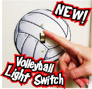 """Got a Volleyball Fanatic? Then this is the perfect gift! * DOES NOT FIT ROCKER SWITCHES! * Glossy Hardboard Round Light Switch Plate * 5"""" diameter x 1/8"""" thick * This will ONLY fit a standard light switch - Not a Rocker Switch!"""
