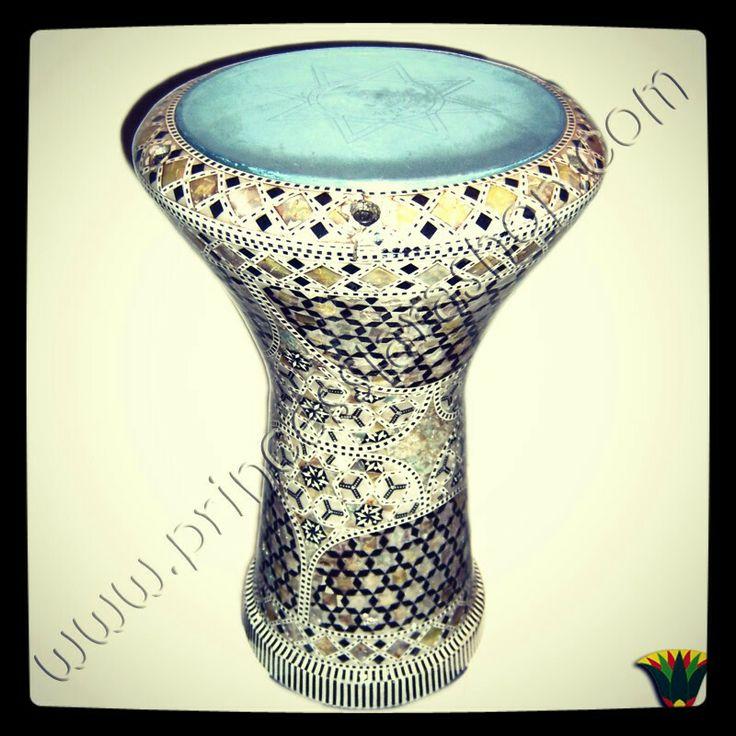 Colección danza egipcia. Darbuka egipcio de madera y nácar