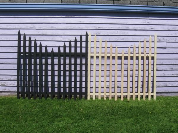 My $1.20 Graveyard Fence - halloween yard decor on the cheap!