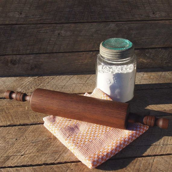Rolling pin in black walnut wood  The Rustic  19 / by Auboutdurang