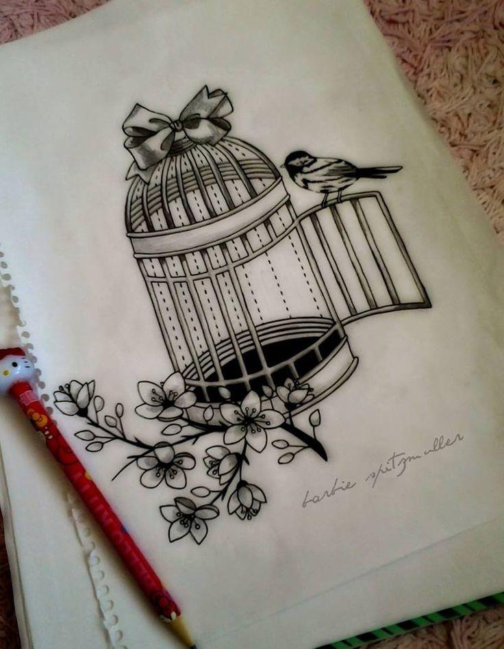 bird birdcage drawing - Google Search