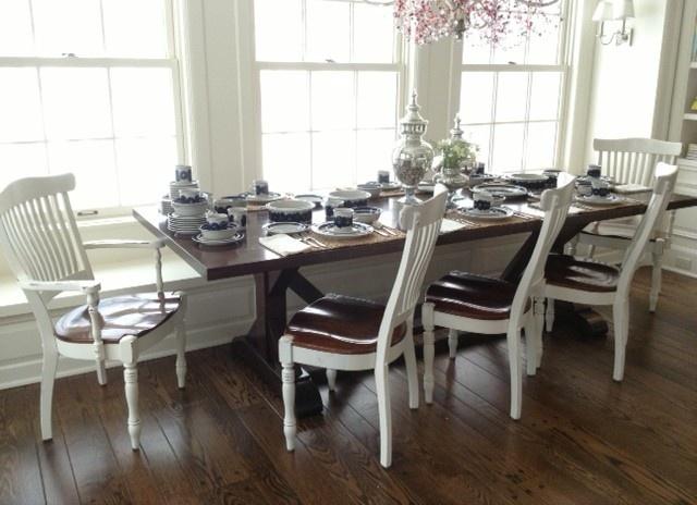 Solid Mahogany Trestle Table 4000