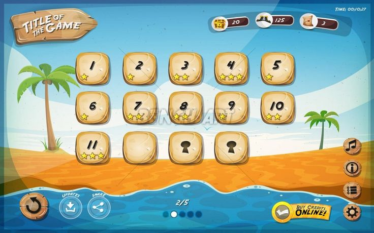 tablet game ui