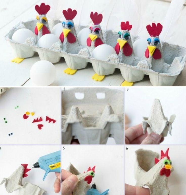 Tiere basteln mit Eierschachteln – 25 niedliche DIY Ideen für Kinder #eierpap